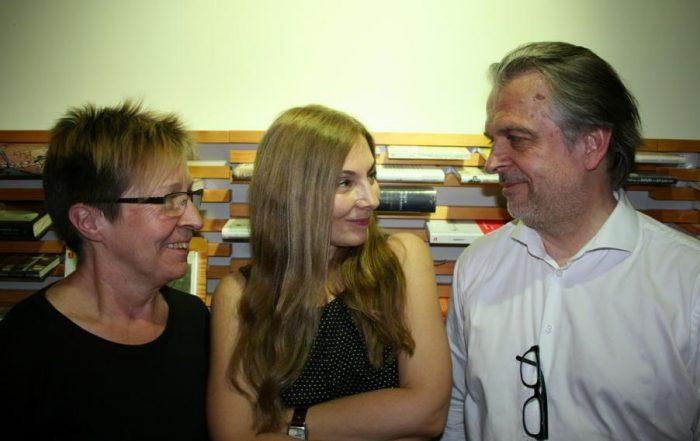 Beate Scherzer (Proust) mit Julia Kissina und Norbert Wehr