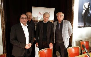 v.r.: Claus Leggewie, Walter Siebel, Klaus Wermker und Thomas Kufen (Foto: Georg Lukas)