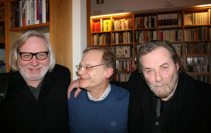 Gerd Busse (Übersetzer), Ulrich Faure (Lektor) und Wolfgang Schiffer (Lesung)