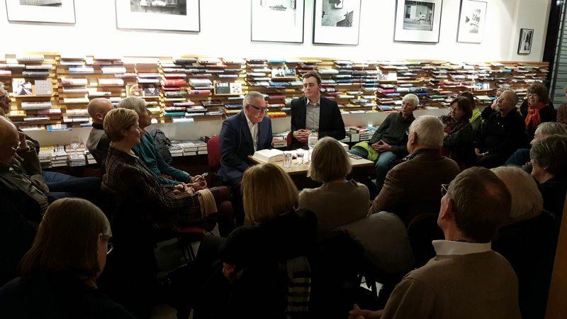 """Karl Schlögel und Marcel Siepmann im November 2017 bei Proust: """"Das sowjetische Jahrhundert""""."""
