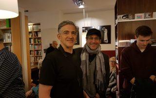 Chris Bacas mit dem Jazz-Drummer Peter Baumgärtner