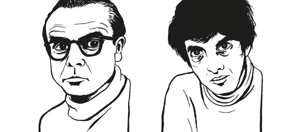 (Illustration Arno Schmidt und Bernd Rauschenbach: Aistesis Verlag)