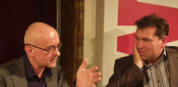 Prof. Frank Biess mit Jens Dirksen (WAZ)